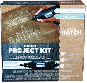 Dremel Hatch Project Kit Skyline Wood Engraving
