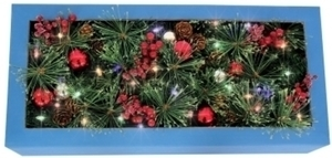 J & J Seasonal Celebrations Prelit Green Garland 12 in. Dia. x 6 ft. L Color Change