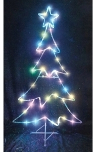 celebrations led micro dot tree christmas decoration multicolored iron 48 in