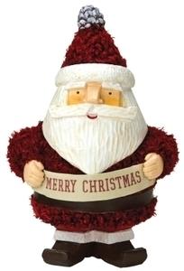 Hallmark Woodland Santa holding Merry Christmas Banner Christmas Decoration