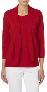 Laura Scott Women's Embellished Layered-Look Sweater