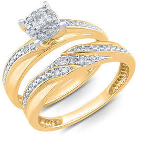 1/4 ct tw Diamond Dridal Rings & Sets 10k or 14k Gold