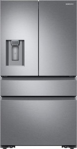 Samsung - 22.6 Cu. Ft. 4-Door French Door Counter-Depth Refrigerator - Stainless steel