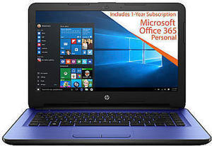 "HP 14-am052nr Laptop, 14"" Screen, Intel Celeron, 4GB Memory, 32GB Solid State Drive"