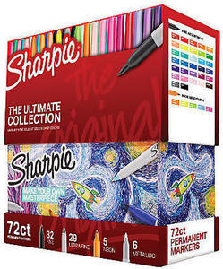 Sharpie 72-Piece Ultimate Pack, Fine/Ultra Fine Point