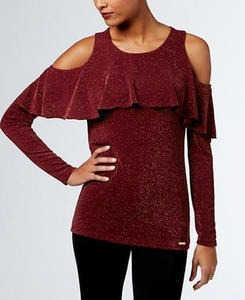Ruffled Cold-Shoulder Sweaters