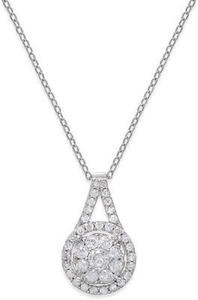Diamond Pendant Necklace (1/2 ct. t.w.) in Sterling Silver