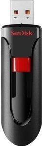 SanDisk CZ60 32GB USB Flash Drive, Black/Red