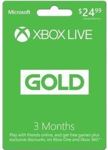 Xbox Live 3-Month Gold Card - $24.99