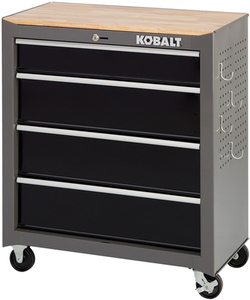 Kobalt 1000 Series 32.5-in x 26.5-in 4-Drawer Friction Steel Tool Cabinet (Black)