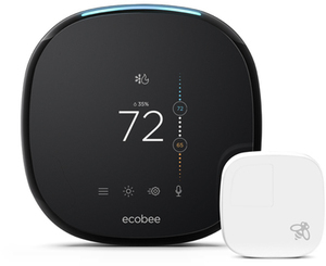 ecobee4 Black Thermostat with Wifi compatibility