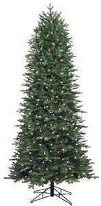 GE 7.5-ft Pre-lit Aspen Fir Slim Artificial Christmas Tree with 400 Multi-function Color Changing Warm White LED Lights