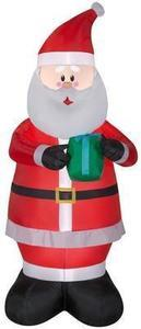 Holiday Living 6.99-ft x 2.76-ft Lighted Santa Christmas Inflatable
