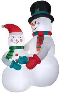 Holiday Living 10.5-ft x 4.69-ft Lighted Snowman Christmas Inflatable