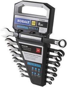 Kobalt Universal 8-Piece Standard Black Oxide Standard (SAE) Wrench Set