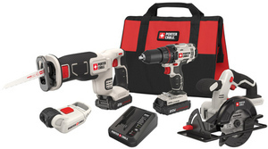 PORTER-CABLE 4-Tool 20-Volt Max Lithium Ion (Li-ion) Cordless Combo Kit with Soft Case
