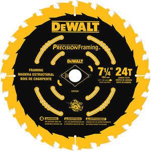 DEWALT Precision Trim 7-1/4-in 24-Tooth Carbide Circular Saw Blade