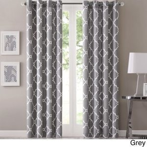 Madison Park Geometric Pattern Curtain Panel