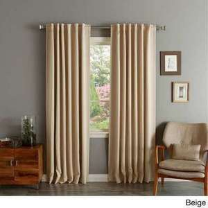 "Aurora Home Blackout 84"" Curtain Panel Pair"