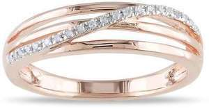 Miadora Diamond Crossover Highway Ring