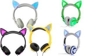 Jamsonic DJ-Style Light-Up Cat Ear Headphones