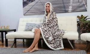 Chic Home Sherpa Lined Hoodie Robe