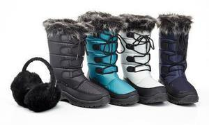 Snow Tec Women's Snow Boots With Free Ear Muffs