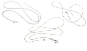 Italian Sterling Silver Chain Necklaces