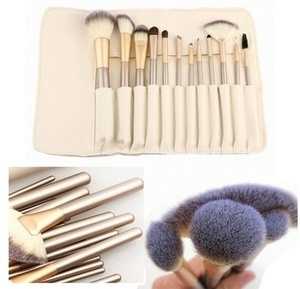 Professional Makeup Brush Collection With Storage Case (13 Piece)